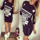 Womens Zip Bodycon Long Sleeve Hoodies Dress Ladies Party Evening Mini Dress LXJ