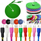 1M&2M&3M Braided Fabric Micro USB Data&Sync Charger Cable Cord For Cell Phone US