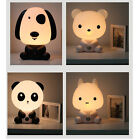 Baby Kid Bedroom Night Light Bear Dog Panda Bunny Cartoon Animal Lamp Great Gift