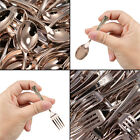200 Bronze Mini Plastic Appetizer Forks or Spoons Set Disposable Utensil Party