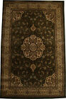 PERSIA HAND CARVED TRADITIONAL RUG LOUNGE GREEN IVORY LOUNGE BEDROOM RUGS