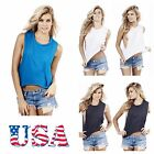 Womens Casual T Shirt Tank Top Gym Yoga Fitness Muscle Walkout Junior Lady