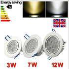 Whosale 3W/7W/12W COB LED Down Light Recessed Ceiling SpotLight Day/Warm White
