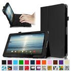 "Folio Case Cover for 10.1"" RCA Viking Pro 10 inch Detachable 2-in-1 Tablet PC"