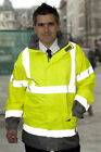 HI VIS VIZ YELLOW / GREY JACKET ANORAK COAT LIGHTWEIGHT BREATHABLE