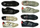 MENS  LAMBRETTA EXPOSE TRAINERS SHOES LATEST FOOTWEAR IN GREY BLACK WHITE NAVY