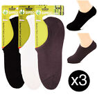 3 Pairs Mens Bamboo Fiber Low Cut Liner No Show Socks Boat Loafer Peds Non-Slip