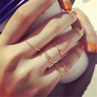 5Pcsset Women Lovely Bright Rhinestone Middle Knuckle Finger Joint Rings CATB