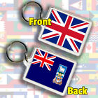 UK Union Jack Flag & Any Country Cos-Hun Gift Keyring Fob Chain 45 x 35 mm