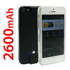 Portable Rechargeable Backup Battery Charger Case Power For Apple 5S 5