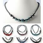 Fashion Jewellery Hematite Colorful Disco Ball Crystal Bead Party Necklace GIFT