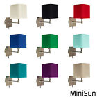 Modern Brushed Chrome Wall Light Fittings Plug In Bedside Hotel Lights Lamps NEW