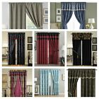 Chezmoi Collection 4-piece Jacquard Windown Curtain Set Black, Gold, Red, Purple