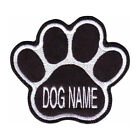 CUSTOM PAW DOG NAME BLACK EMBROIDERED PATCH
