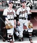 BL154 Warren Spahn & Johnny Sain Braves Pitchers MLB 8x10 11x14 Colorized Photo