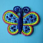 Butterfly Punk Iron on Patch Embroidered Applique Sewing Insert Rock Shoe Shirt