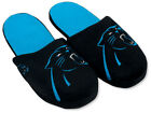 Carolina Panthers Pair of Big Logo Slippers Team Logo TWO TONED House shoes BLG