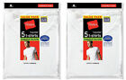 10 Pack Hanes Men's White TAGLESS® Crewneck Undershirt Size 2XL-3XL LOT A