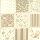 Rouenneries Deux Pearl French General Patchwork Print BT  yard fabric 4 inch sq