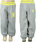 Boys Grey Joggers New Jogging Pants Tracksuit Bottoms Kids Clothes Age 5-6 years