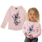 Girls Long Sleeved Top New Disney Frozen Anna Elsa Olaf Kids Loungewear Sweater
