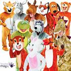 ADULT MENS LADIES DELUXE JUMBO BIG HEAD ONESIE FANCY DRESS ANIMAL COSTUME OUTFIT