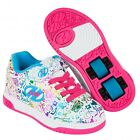Heelys X2 Dual Up White Rainbow Print Roller Shoes Skating Shoes+Free How to DVD