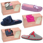 Womens Dunlop Slipper Mules Gift Box Ladies New Touch & Close Memory Foam Shoes