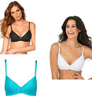 SUPER COMFORT PADDED NON WIRED BRA BLACK WHITE TURQUOISE 32 34 36 38 40 A B C