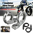 1'' Turn Signal HandleBar Clamp On Mirrors Adapter Mount ATV Motorcycle Scooter image