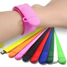 16GB USB FLASH MEMORY WRITBAND STRAP STICK Pen Drive SLAP BRACELET MP3S