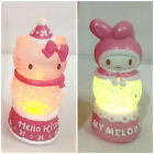 JAPAN SANRIO HELLO KITTY/ MELODY CHRISTMAS LIGHT UP SNOWGLOBE DOME NIB