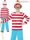 Childs Where's Wally Costume Girls Wenda Fancy Dress Boys Book Day Outfit Kids