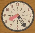 Learn To Tell the Time Clock Teaching aid - (Pink & Purple)