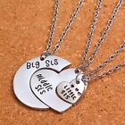 Charm Heart Big Middle Little Sisters Pendant Necklace Best Friends Forever Gift