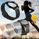 New Stainless Steel Wristband Sport Watch Strap Bracelet Sleep Fitness Monitor