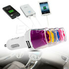 Dual 2.1A+1A 2 Port USB Car Charger Adapter For iPhone 4 5 6 Samsung HTC