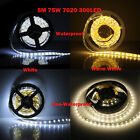 Warm White 5M SMD 7020 Waterproof Non-Waterproof 300 LED 60Led/M Strip Light 12V