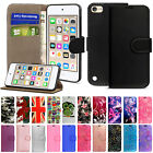 'Luxury Leather Wallet Flip Stand Case Cover For Apple Ipod Touch 7th 6th 5th Gen