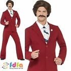 ANCHORMAN RON NEWSREADER SUIT + TASH Chest 38-44 Mens Fancy Dress Costume