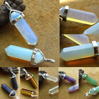 Natural Quartz Crystal Stone Point Chakra Healing Gemstone Charms Pendant Gifts