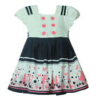 New Toddlers Girls 100% Cotton College Style Casual Dress 2-6T D650