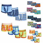 Boys 6 Pack Design Boxer Shorts Kids Multipack Boxers Cotton Trunks Underwear