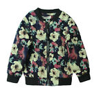 New Kids Boys 100% Cotton Round Collar Zipper Lined Flower Pattern Coat S174