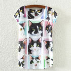 2016 New Womens Cotton Short Sleeve Printed T-Shirt Summer Loose Tee Shirt Tops