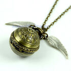 Vintage Retro Bronze Tone Pendant Necklace Chain Quartz Steampunk Pocket Watch