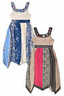 Girls Floral Button Dress New Kids Sleeveless Party Dresses Ages 2-10 Years