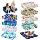 Childrens Kids Double Guest Folding Z Chair Bed Mattress Sofa Bed Futon Fold Out