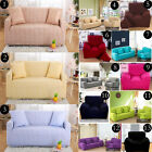1Seater 2Seater 3Seater 4Seater Pure Color Stretch Fitted Sofa Couch Slip Covers