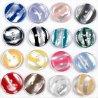 Marble Stripe Humbug Candy Look Round Buttons - Colour and Size Choice